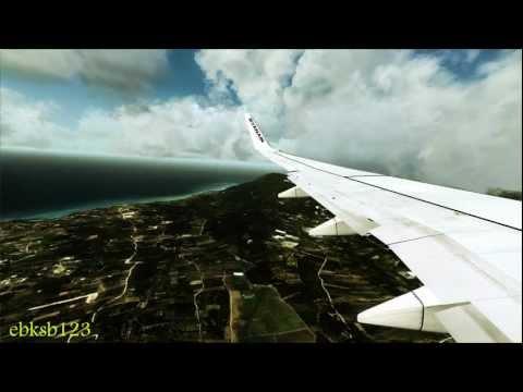 FSX HD 1080p - Ryanair PMDG 737 NGX landing Corfu!! AS REAL AS IT GETS!