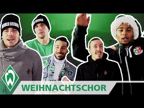 Frohe Weihnachten Werder Bremen.Weihnachts Chor Der Werder Profis Mit Claudio Pizarro