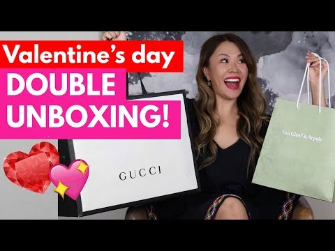 WHAT I GOT FOR VALENTINES DAY 2018 - GUCCI, VAN CLEEF & ARPELS UNBOXING!