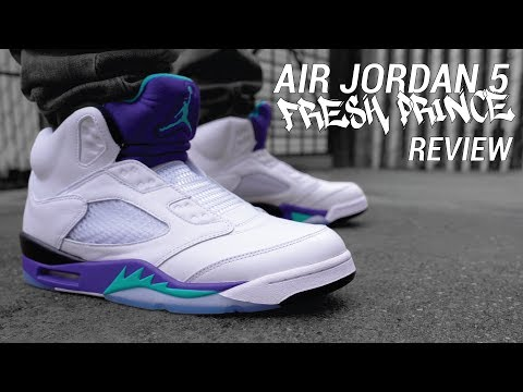 653060a5d0b Fresh Prince of Bel Air Nike Air Jordan 5 Review & On Feet - YouTube