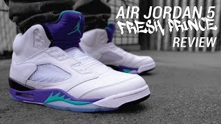 Fresh Prince of Bel Air Nike Air Jordan 5 Review & On Feet