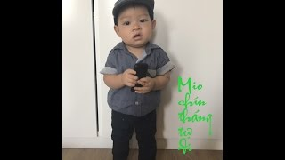 be mio 9 thang da tu di nhung buoc dau tien - baby mio 9 months first walking