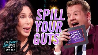 Download Spill Your Guts or Fill Your Guts w/ Cher  #LateLateLondon Mp3 and Videos