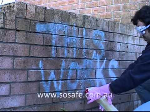 how to remove spray paint from brick with youtube. Black Bedroom Furniture Sets. Home Design Ideas