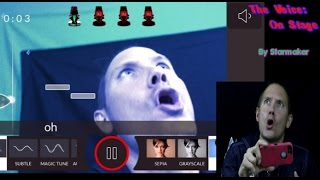 The Voice: On Stage by Starmaker Karaoke Gameplay - iPhone App