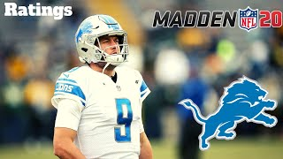 Detroit Lions Madden 20 Ratings! These Are WRONG! Detroit Lions Talk Madden 20