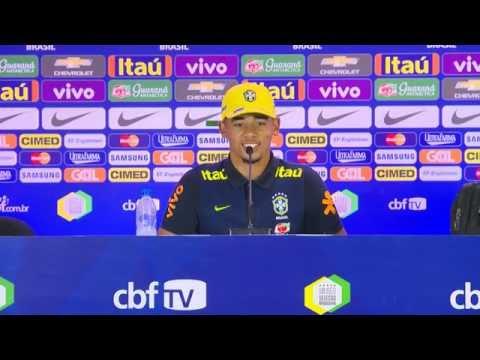 Seleção Brasileira: Coletiva Gabriel Jesus e Renato Augusto - 04/09/2016