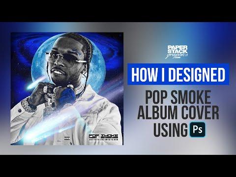 #LIVE Pop Smoke Album Cover Design Paper Stack Graphics Live Stream