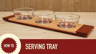 How To Make A Serving Tray With Breadboard Ends