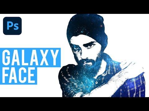 تصميم  galaxy-face باستخدام برنامج فوتوشوب