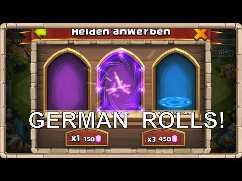 Castle Clash German Rolls!