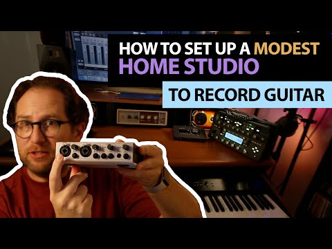 How To Record Your Guitar And Setup A Home Studio - Modest Home Studio - Record Guitar On Computer
