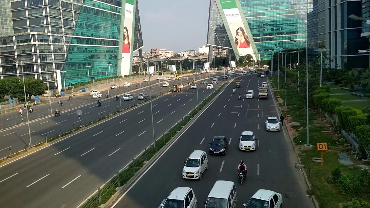 Gurgaon Dlf Cyber City Modern Indian City Smart City