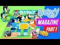 📘😯💙 BLUEY Magazine Part 1  Books & crafts   Bluey Books & Games   Disney Jr   ABC Kids✨✏️