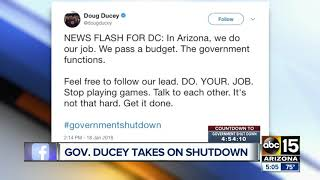 Gov. Ducey expressing frustration with Congress via Twitter
