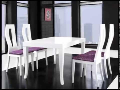 mesas de comedor con sillas - YouTube