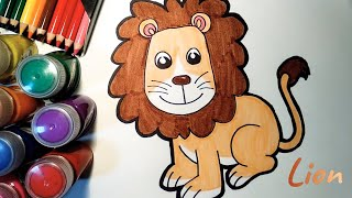 Draw and Learn Funny Animals for Toddlers - Lion, Baby Elephant and Squirrel