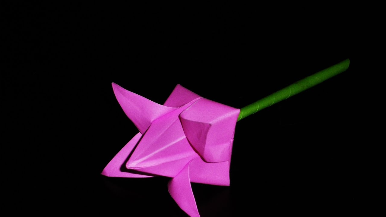 How to make paper flower origami lotus flower youtube for How to make a lotus with paper