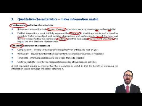 Qualitative characteristics - ACCA Financial Reporting (FR)