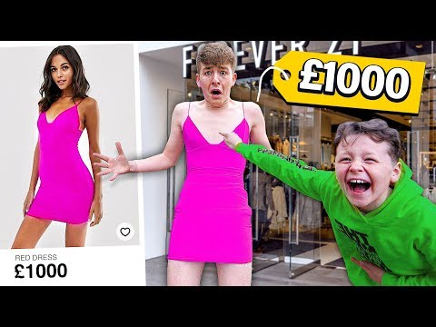 """THAT WOULD LOOK GOOD ON YOU"" Challenge with LITTLE BROTHER!! (bad idea)"