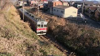 20180204 203F東急カラー 伊賀線 872レ 猪田道 桑町