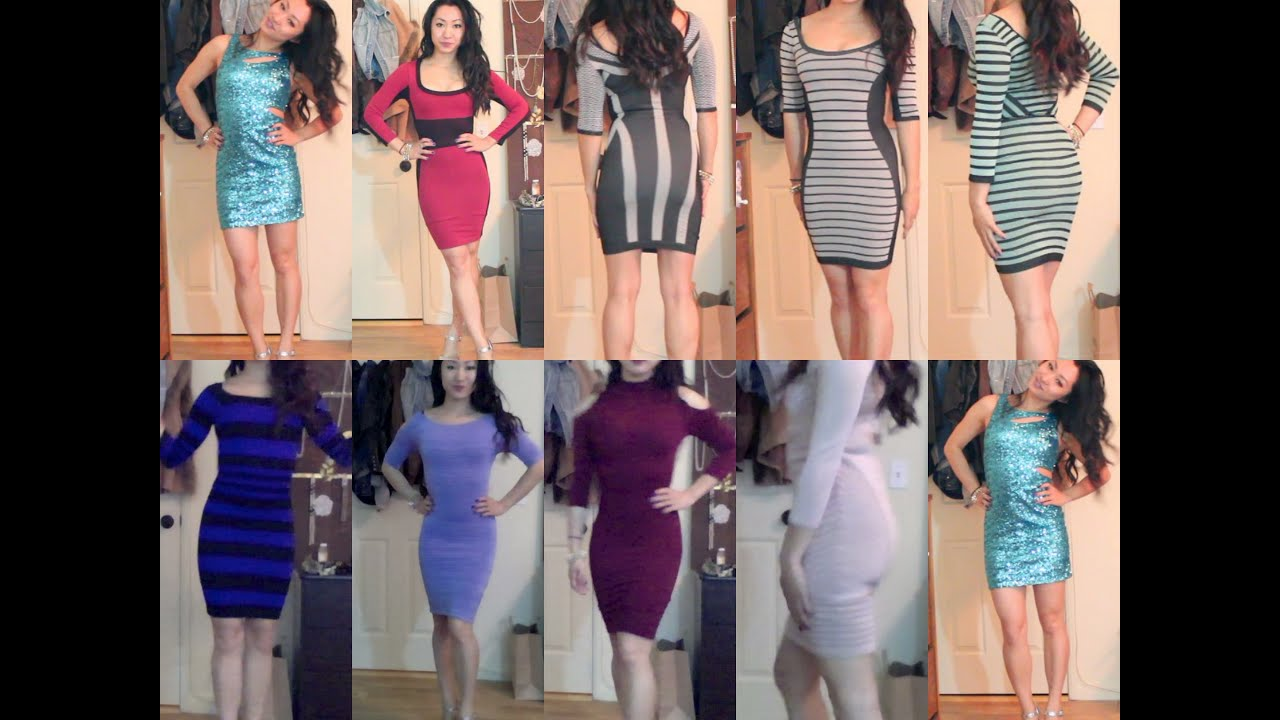 Bebe Dresses Collection And Try On