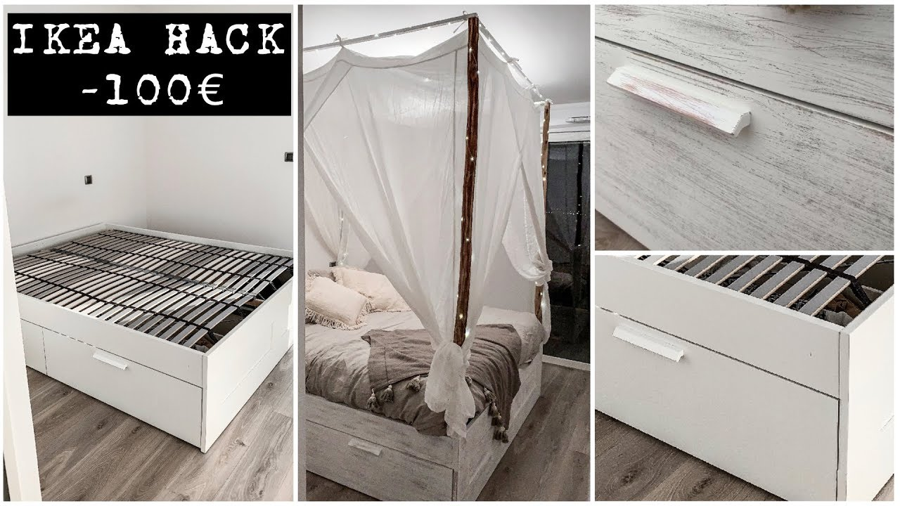 Fabriquer Ciel De Lit diy : comment j'ai relooké mon lit ikea pour moins de 100€