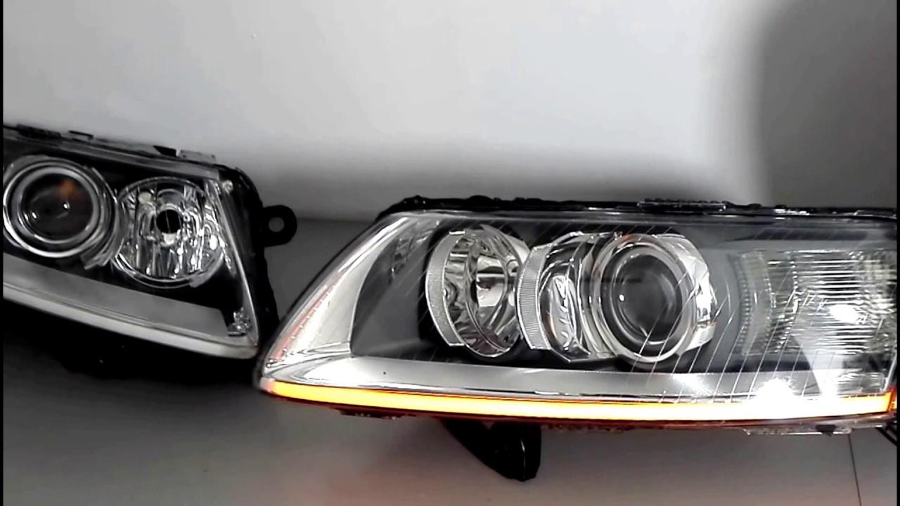 Regeneracja reflektorów Audi A6 + montaż LED