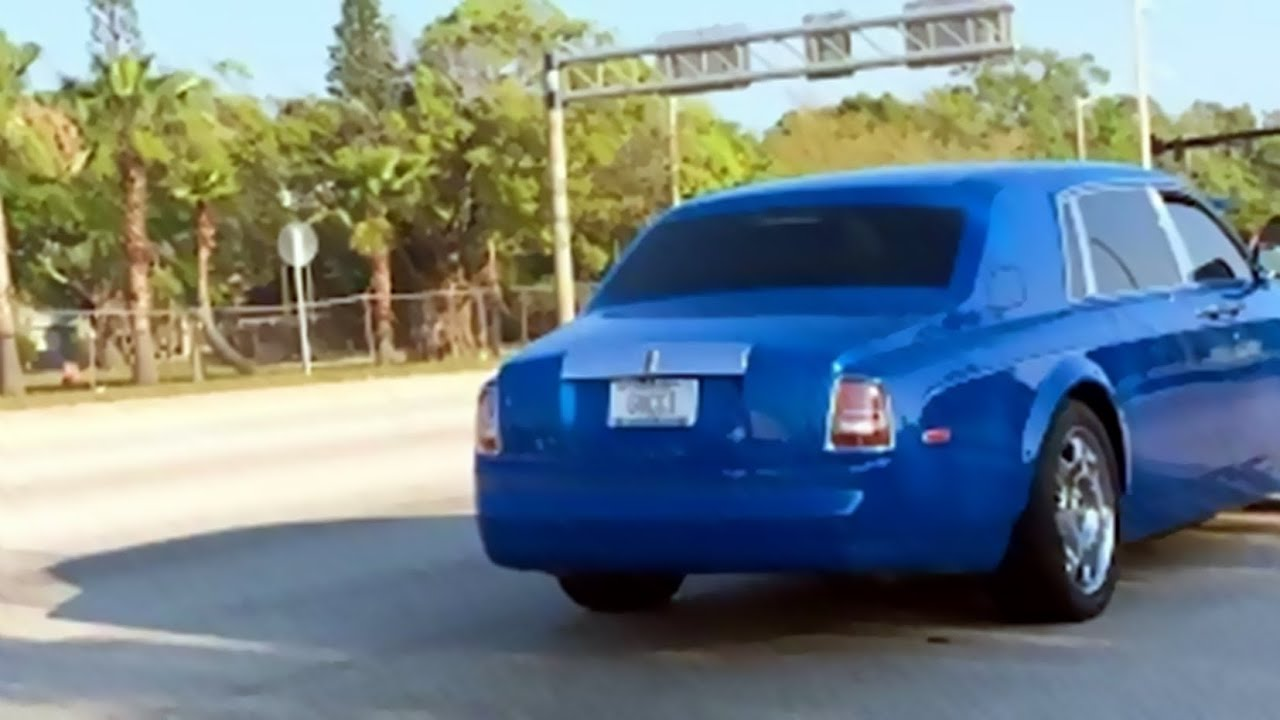Gucci License Plate >> Gucci Comes to Bradenton: Periwinkle Rolls-Royce - YouTube
