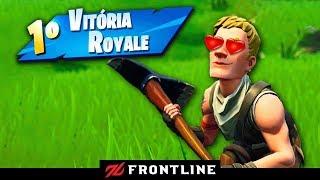 AJUDEI UM NOVATO A GANHAR SUA PRIMEIRA PARTIDA!!! Fortnite: Battle Royale