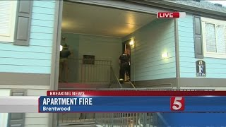 No One Injured In Brentwood Apartment Fire