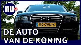 Binnenkijken bij limousine van koning Willem-Alexander met tv en massagestoelen