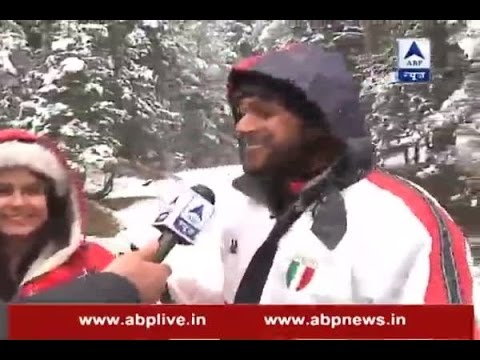 Snowfall enjoyed by Jamshedpur couple in Kashmir