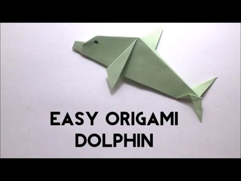 Easy Origami Dolphin - Origami Fish Tutorial For Beginners - Origami Animal - DIY Paper Dolphin
