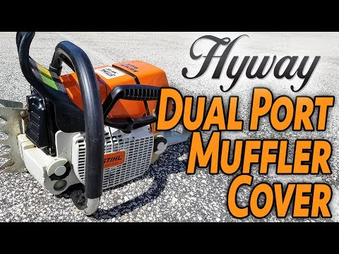 Add Performance to Your Chainsaw... with a Hyway Dual Port Muffler Cover.