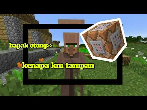 Cara Membuat Villager Berbicara Command Block Creation Youtube
