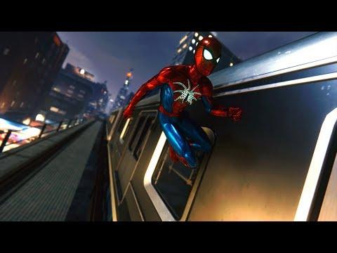 Spider-Man PS4: Midnight Traversal & Combat - MK IV Suit Gameplay Showcase - Vol.14