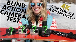 4K Action Cam BLIND Test! | Can you see a difference?! Yi GoPro