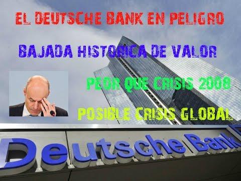 El DEUTSCHE BANK ESTÁ EN PELIGRO