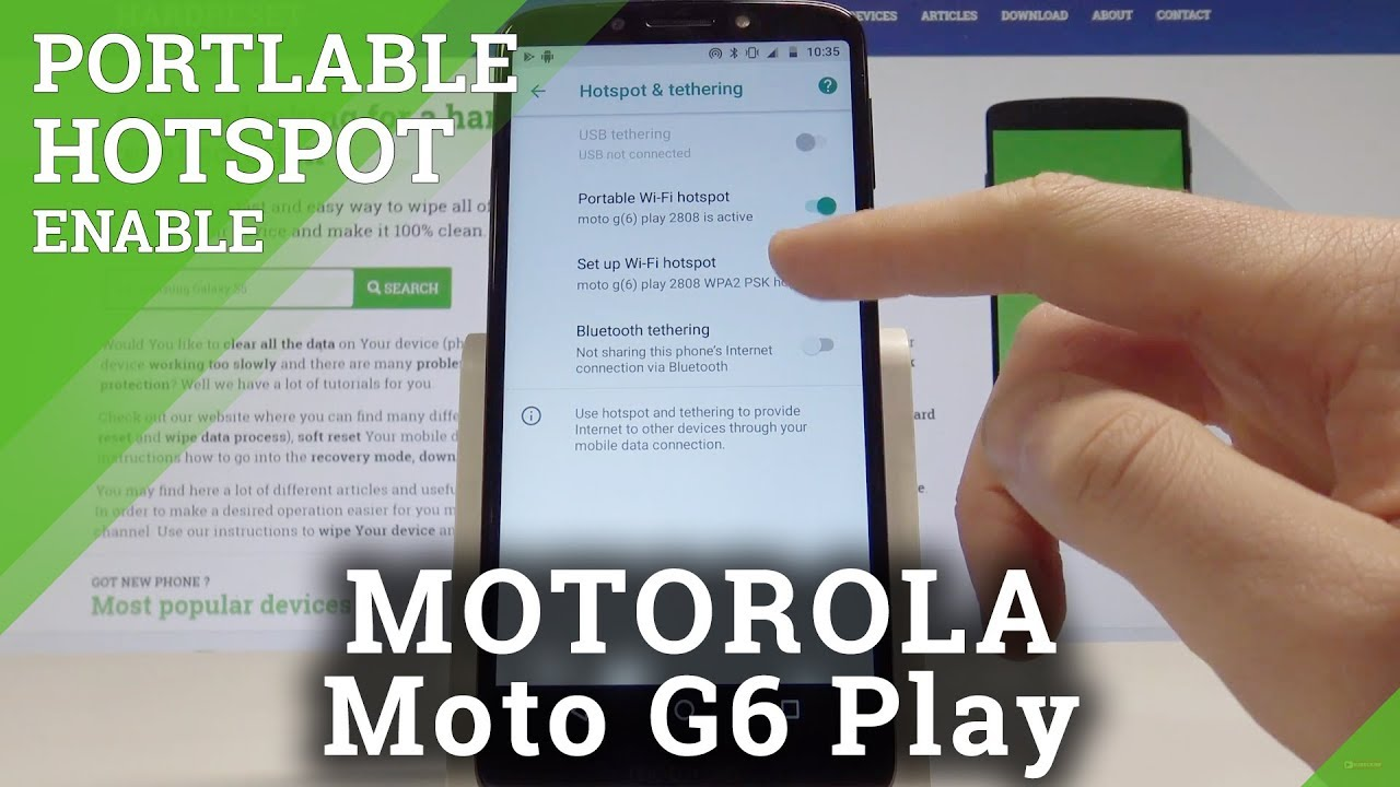 How to Mobile Hotspot on MOTOROLA Moto G6 Play - Portable Hotspot