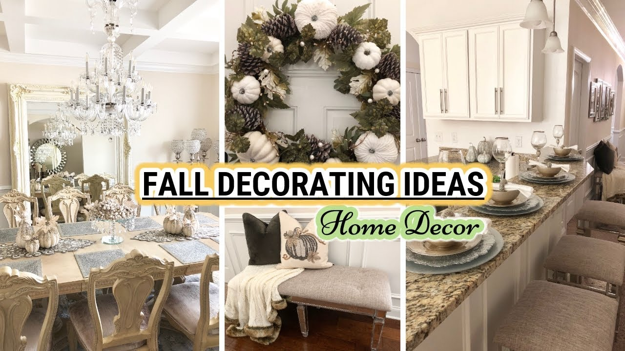 fall decorating ideas 2018 fall decorate with me glam home decor