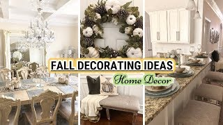 FALL DECORATING IDEAS 2018 | Fall Decorate With Me! Glam Home Decor