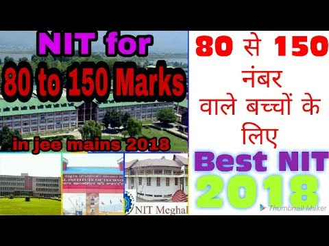 Best NIT College For Jee Mains Score 80 To 150 ||NIT||IIT||Government College||IIT||GFTI||