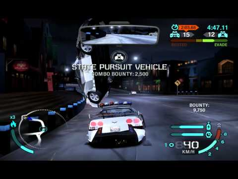 Need For Speed Carbon - San Juan Police Chase with Police Corvette (Lukool)