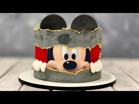 Mickey Mouse Cake | Fault Line Cake | Concrete Cake