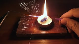 How To Make a Mini 1600 Degrees Jet Torch Using Candle and Coca Cola Bottle - Awesome Idea