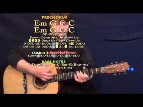 Needed Me (Rihanna) Guitar Lesson Chord Chart - Capo 3rd