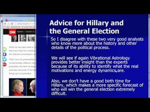 USA 2016 Presidential Primaries Prediction with Vibrational Astrology