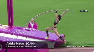 Anicka Newell (CAN) - 4.45m at IAAF World Championships London 2017
