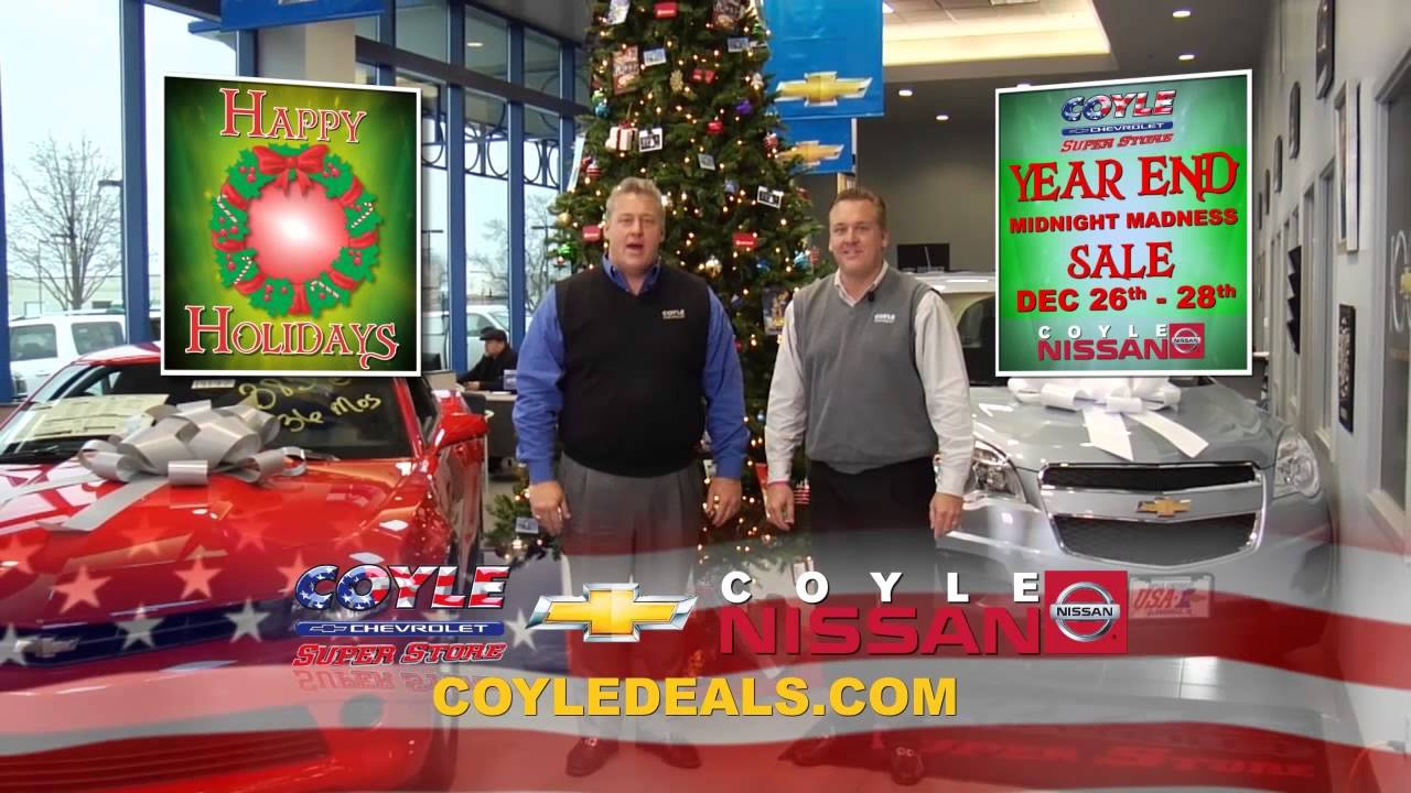 Year End Midnight Madness Sales Event At Coyle Chevrolet